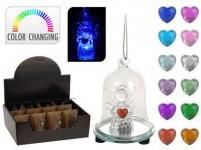dekorace LED ZVONEK s andělíčkem pr.6x8cm sklo - mix variant či barev