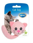 Hračka cat textil Zvířecí hlava s ocáskem Duvo+ 5 cm