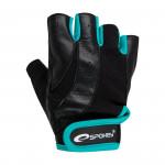 Spokey ZOE Dámské - Fitness rukavice černo-zelená vel. S