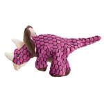Hračka textil Dynos Triceratops růžový Kong small