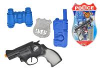 Policejní set 4 ks - pistole klapací 18 cm s doplňky