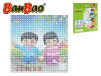 BanBao stavebnice základní deska 25,5x25,5 cm transparentní