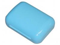 krabička na mýdlo VESNA obdélníková 10,5x7,5cm plastová - mix barev