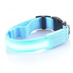 Svítící LED obojek s USB nabíjením, modrý, Domestico