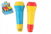 Mikrofon s ozvěnou plast 15cm - mix barev