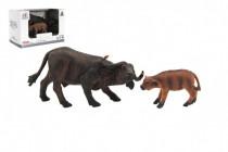 Zvířátka safari ZOO 12cm buvol plast