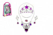 Sada krásy korunka + náušnice +náhrdelník plast - mix barev