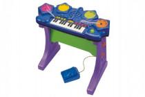 Piáno/klávesy s bubny plast na baterie se zvukem