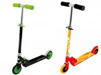 Dětská koloběžka - zelená/oranžová