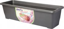 Plastia truhlík samozavlažovací Bergamot - anthracite  50 cm