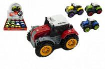 Traktor převracecí plast 10cm mix barev na baterie - mix variant či barev