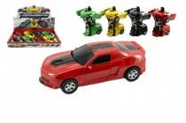Transformer auto/robot plast 12cm na setrvačník - mix barev