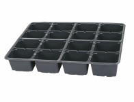 Sadbovač MULTI PL plastový černý 6,5x8cm 16ks