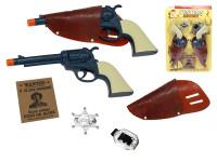 Šerifova sada 2 ks pistole klapací 25 cm s příslušenstvím