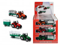 Dickie Traktor kovový s přívěsem 18 cm - mix variant či barev