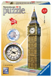 Big Ben s hodinami 216 dílků 3D