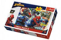 Puzzle Statečný Spiderman Disney 33x22cm 60 dílků