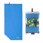 Spokey SIROCCO XL Rychleschnoucí ručník 80x150 cm, modrý s odnímatelnou sponou