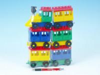 Stavebnice LORI 8 vlak + 5 vagónků plast v sáčku