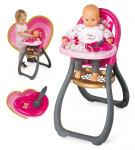 Smoby Baby Nurse Jídelní židlička pro panenku - VÝPRODEJ