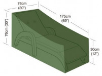 plachta krycí na plážové lehátko 30x76cm/76x76x175cm, PE 90g/m2