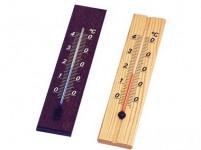 teploměr pokojový D20 20cm dřev. mořený