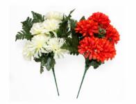 Chryzantéma X6 MIX + kapradí list 6 květů 36cm