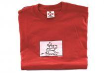 Dětské tričko Mayaka s dlouhým rukávem Horseriding - červené