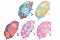 Deštník 55cm 5 druhů - VÝPRODEJ