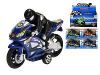 Motorka s řidičem 16 cm na setrvačník - mix barev