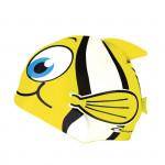 Spokey RYBKA MARLIN Dětská plavecká čepice žlutá