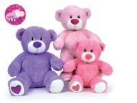 Medvídek plyšový 40 cm sedící - mix barev