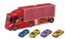 Teamsterz kufřík v designu náklaďáku se 4 autíčky
