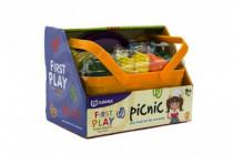 Zelenina/ovoce a potraviny v košíku piknik plast