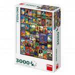 Puzzle 3000 dílků: Plakáty z cest