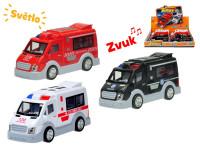 Auto záchranáři 17,5 cm na setrvačník na baterie se světlem a zvukem - mix variant či barev