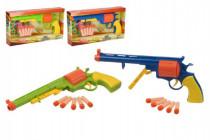 Pistole na pěnové náboje 5ks plast 34cm na baterie se zvukem - mix barev