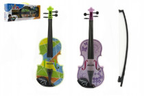 Housle/Viola plast 40cm na baterie se zvukem se světlem - mix barev