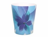 Obal na květník HOLLYWOOD FLORAL keramický modrý 13x15cm