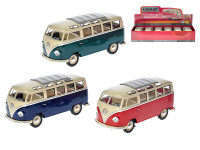 Autobus Kinsmart VW kov 18cm 1:24 volný chod - mix barev