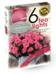 Svíčka čajová - aroma růže - 6 ks