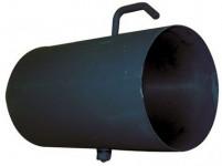 roura kouřová s klap.125mm/ 500 t.1,5mm ČER