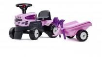 Odstrkovadlo - traktor Princess s volantem a valníkem, hrabič