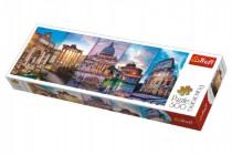 Puzzle Koláž památky Itálie panorama 500 dílků 66x23,7cm