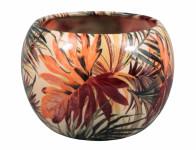 Obal na květník MANES PALMA keramický lesklý d11x10cm