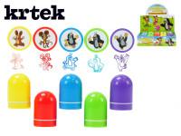 Razítka Krtek plast 4cm - mix barev
