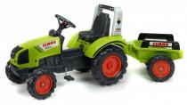 Traktor šlapací Claas Arion 430 s valníkem zelený
