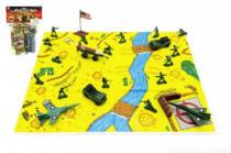 Sada vojáci s mapou plast v sáčku 21,5x30cm - mix barev