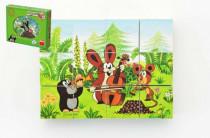 Kostky kubus Krtek a přátelé dřevo