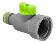 Adapter na kohoutek 3/4 STALCO GARDEN+uzavírací ventil plast